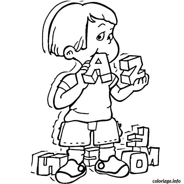 Coloriage enfant croque lettres alphabet - Dessin lettre a ...