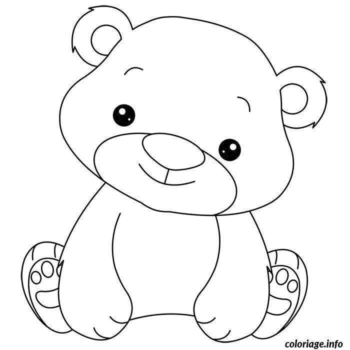 coloriage bebe ourson facile maternelle dessin gratuit