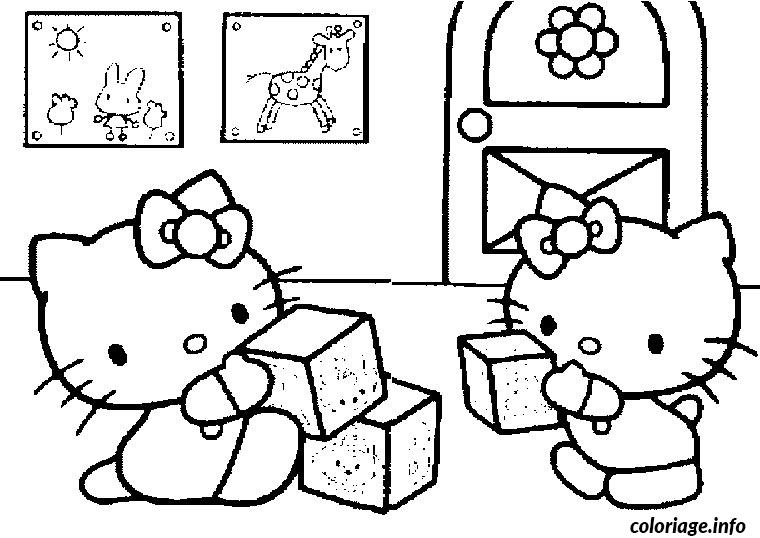 Coloriage hello kitty bebe dessin - Coloriage hello kitty jeux ...