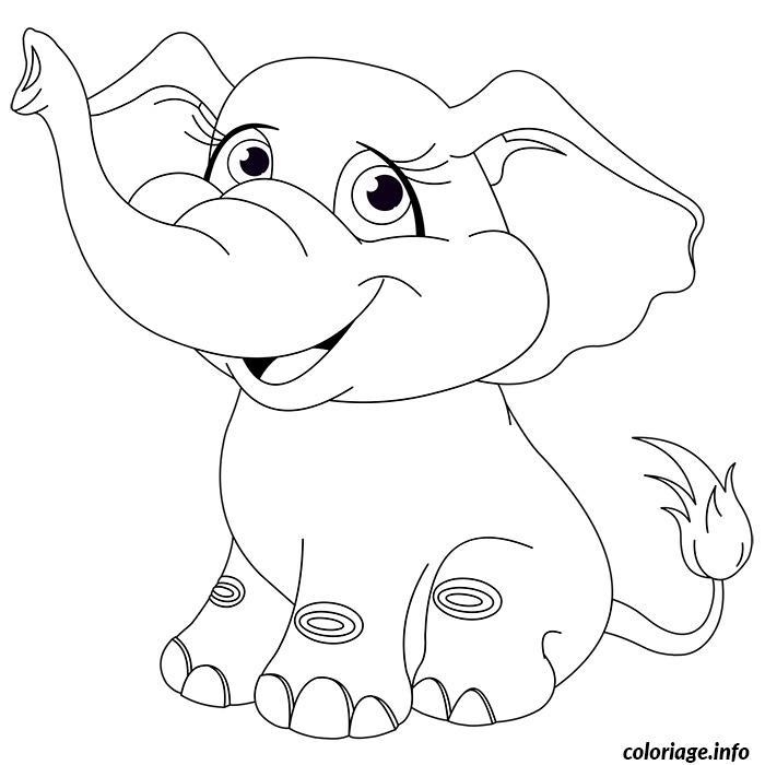 Coloriage Bebe Elephant.Coloriage Elephanteau Bebe Elephant Jecolorie Com