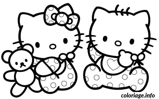 coloriage bebe hello kitty dessin gratuit