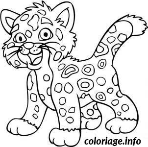 coloriage bebe jaguar facile