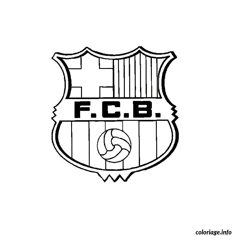 Coloriage Foot Barcelone Dessin