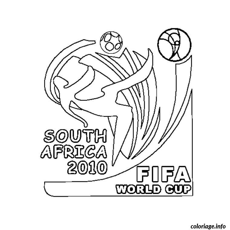 Coloriage Coupe Du Monde 2010 Jecolorie Com