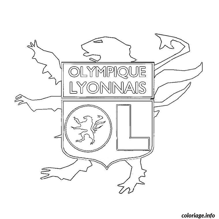 Coloriage Foot Lyon dessin
