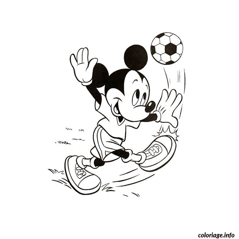 Coloriage mickey foot dessin - Coloriage a imprimer mickey ...