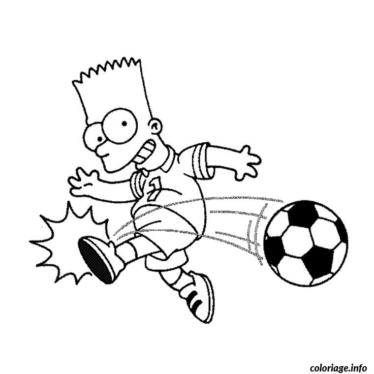 Coloriage simpson foot - Coloriage foot gratuit ...