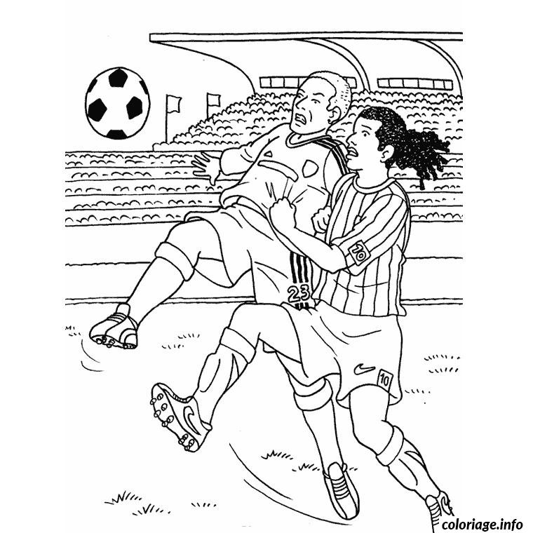 Coloriage foot equipe de france dessin - Coloriage de footballeur ...