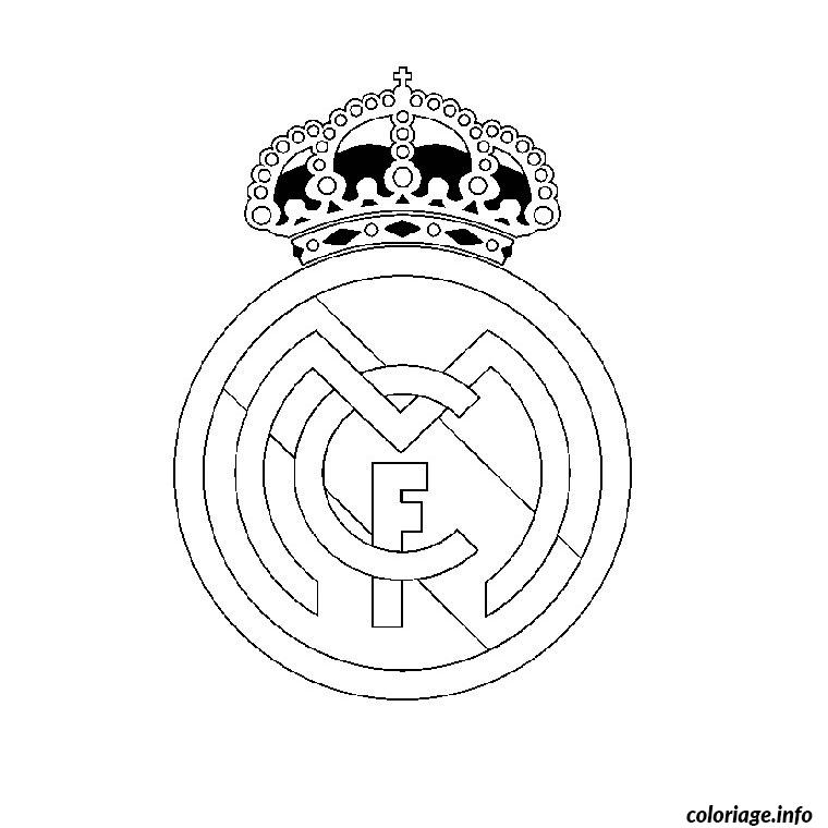 Coloriage foot real madrid dessin - Coloriage a imprimer foot ...