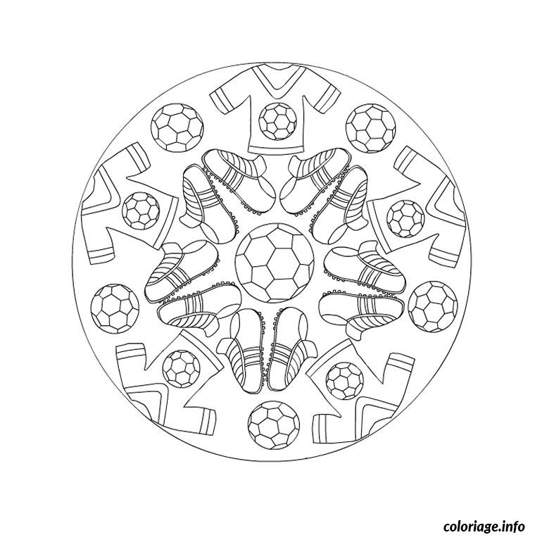 Coloriage mandala de foot - Coloriage de foot ...