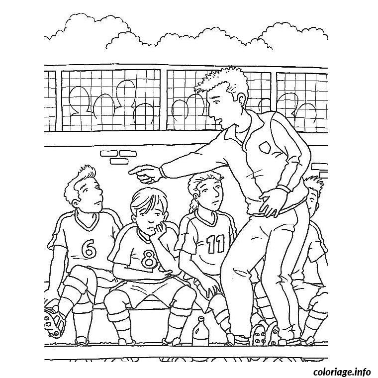 Coloriage equipe de foot JeColorie com