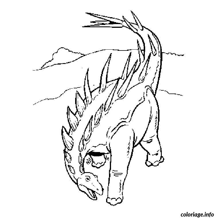 dinosaure carnivore coloriage dessin 7835