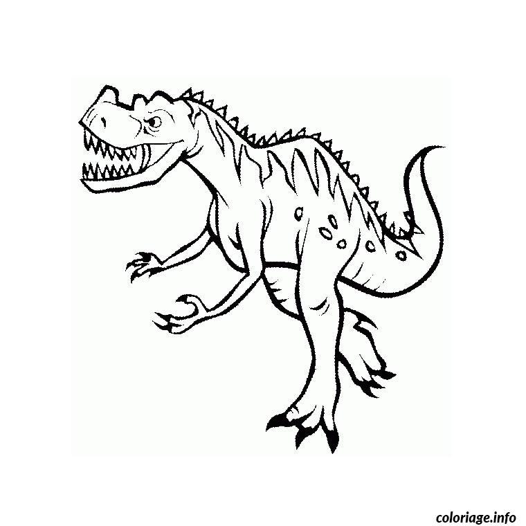 coloriage dinosaure tyrannosaure dessin imprimer - Coloriage Dinosaure Imprimer
