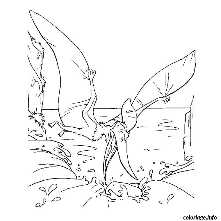 Coloriage dinosaure volant dessin - Coloriage de dinosaures ...