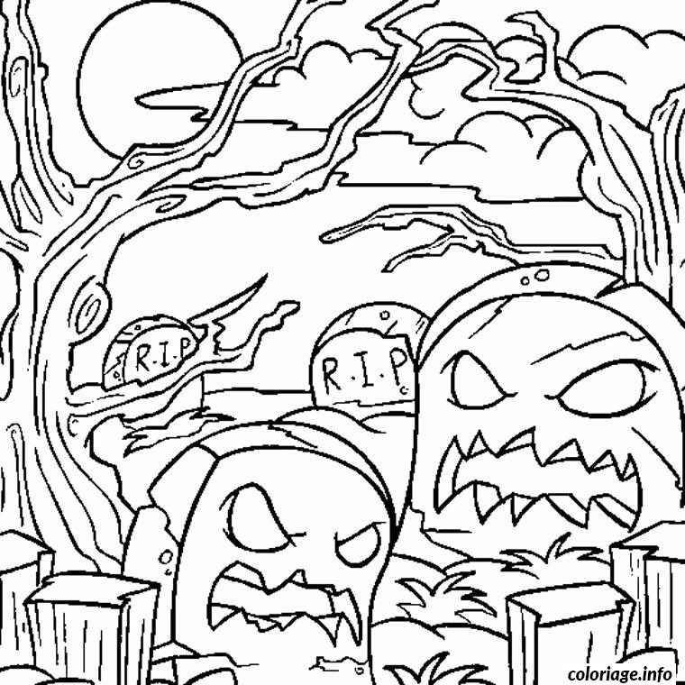 Coloriage halloween monstre dessin - Grand dessin a colorier ...