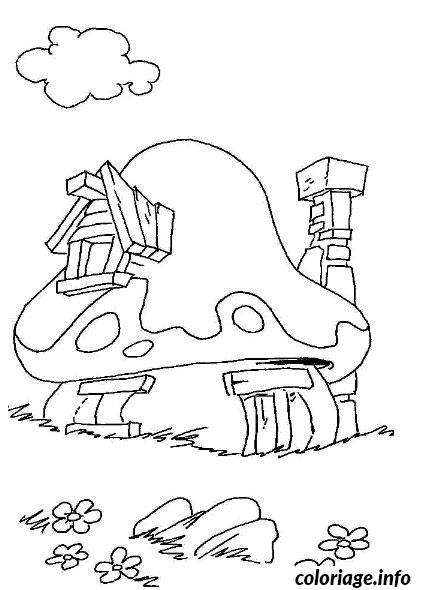 Coloriage maison des schtroumpfs dessin - Dessin maison a imprimer ...