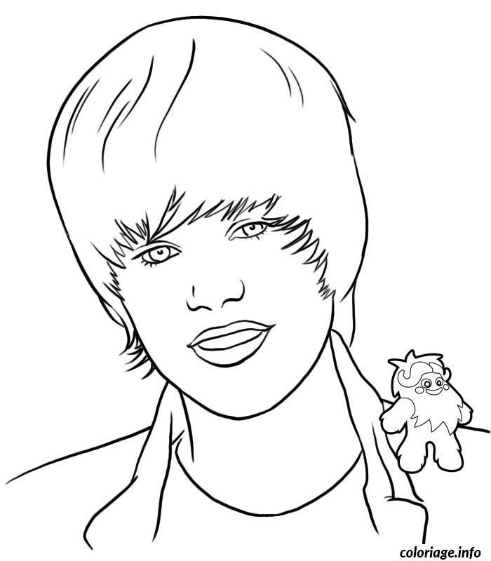 coloriage justin bieber coiffure. Black Bedroom Furniture Sets. Home Design Ideas