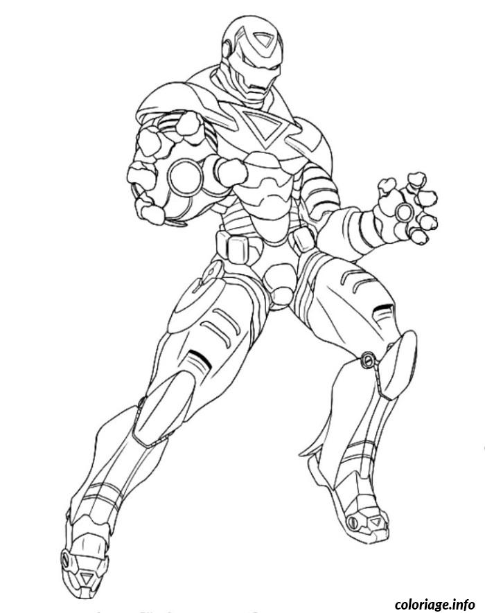 Coloriage avengers iron man - Superhero dessin ...