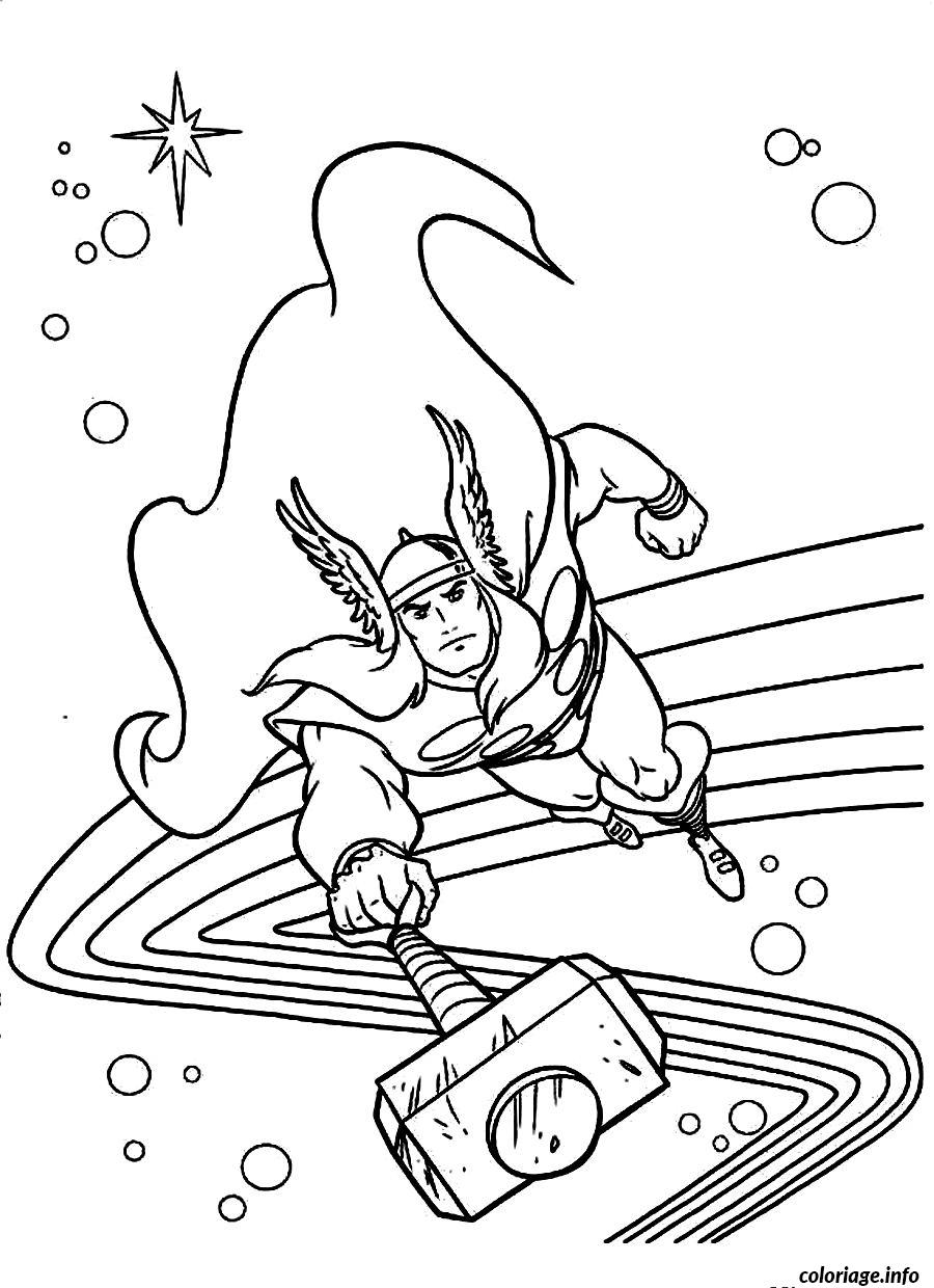 thor coloring pages - coloriage avengers thor