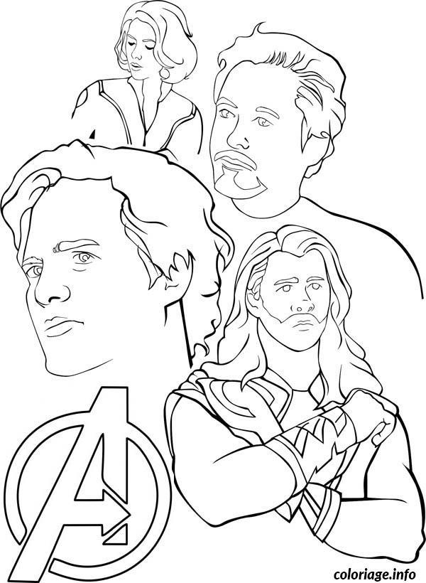 Dessin Avengers to Print Free Coloriage Gratuit à Imprimer
