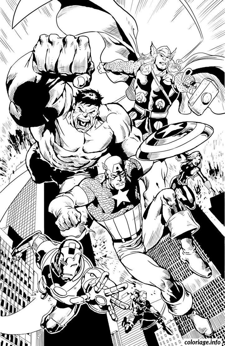 Dessin Avengers world Coloriage Gratuit à Imprimer