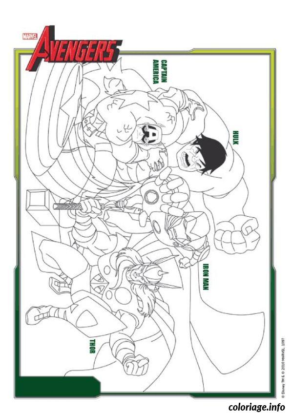 Coloriage Avengers Free Download dessin