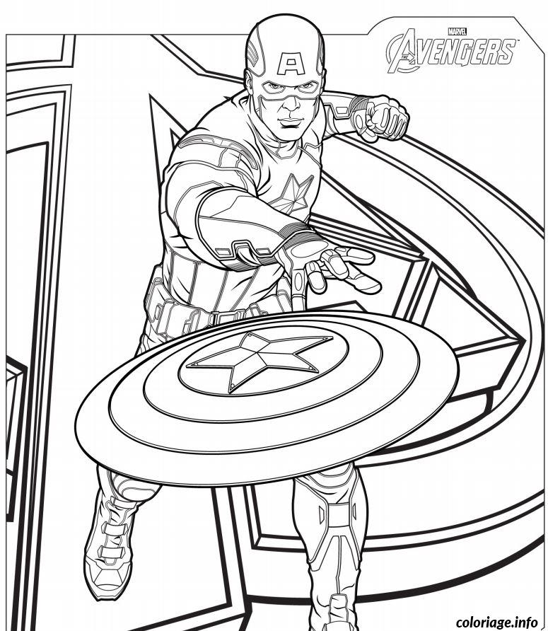 Coloriage captain america avengers - Dessin captain america ...