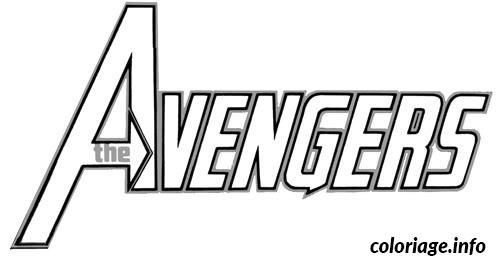 coloriage avengers logo dessin imprimer - Dessin Avengers