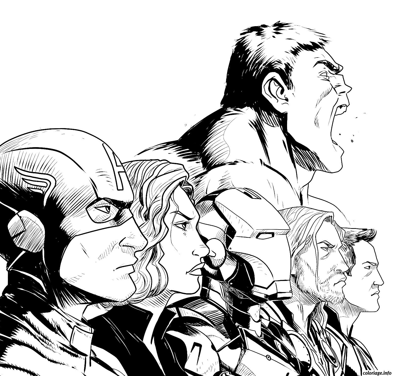 Beau Imprimer Dessin A Colorier Avengers