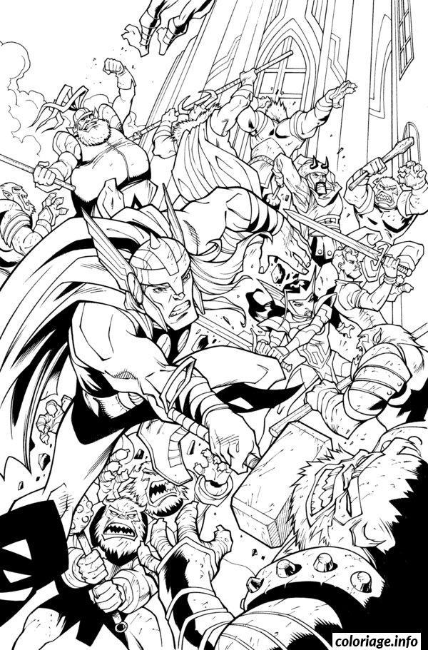 Dessin Avengers monsters Printable Coloriage Gratuit à Imprimer