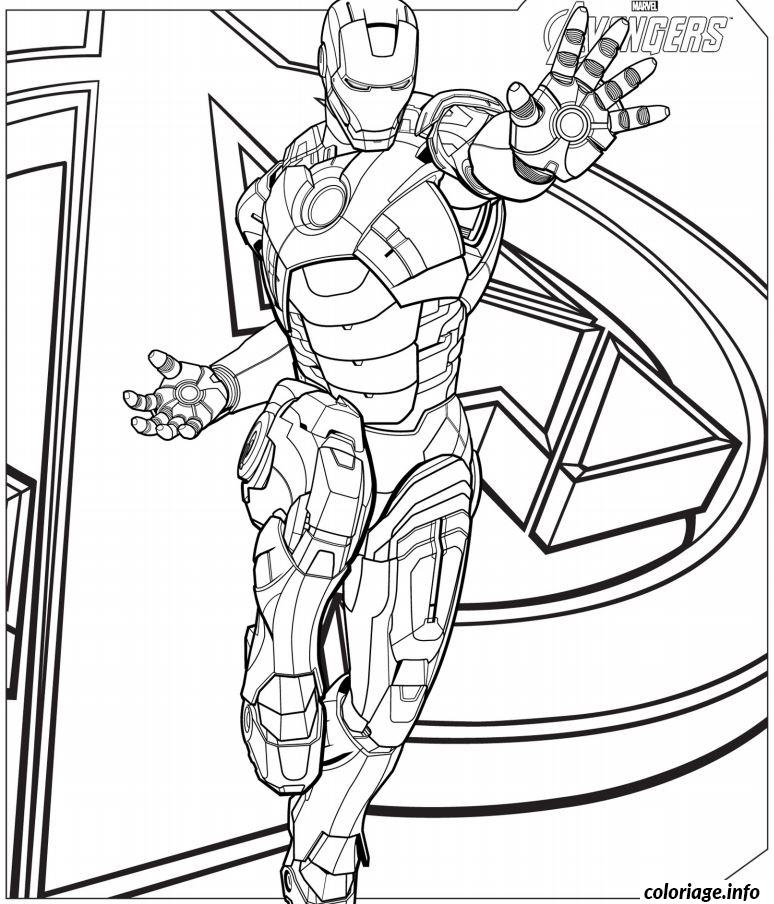 Coloriage iron man avengers dessin - Coloriage info ...