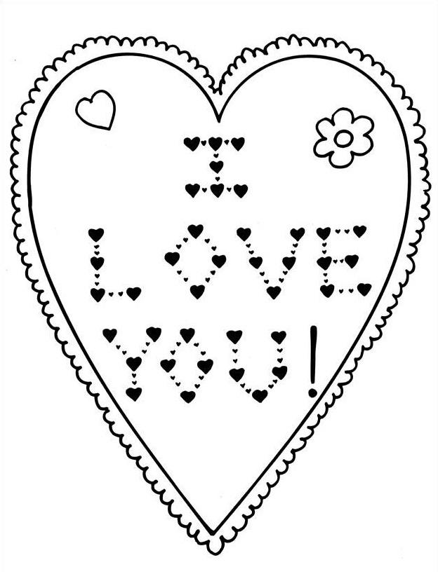 Dessin dessin saint valentin 108 Coloriage Gratuit à Imprimer