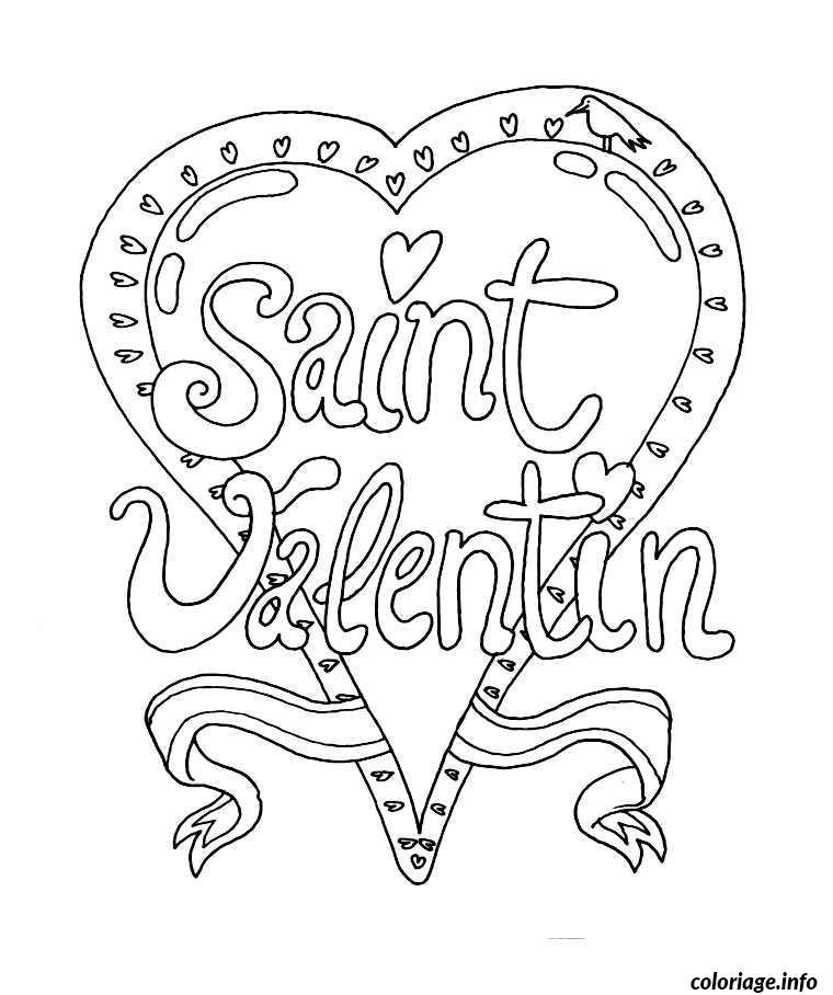 Coloriage dessin saint valentin 24 dessin - St valentin dessin ...