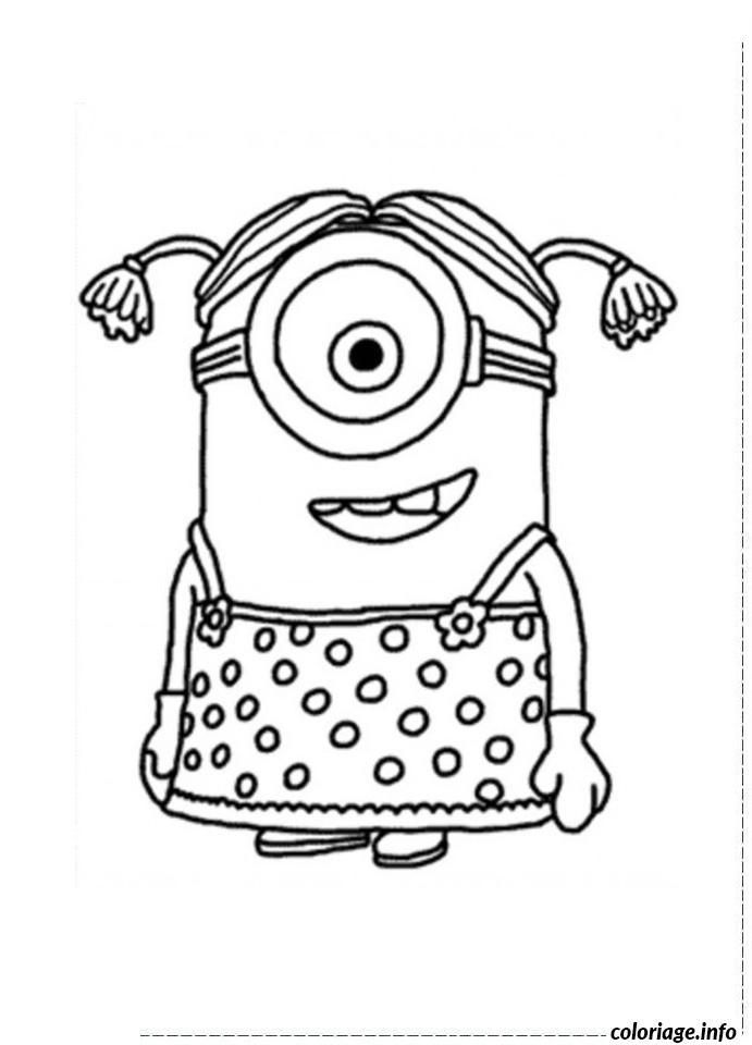 Coloriage dessin minion fille un oeil dessin - Des dessin de fille ...