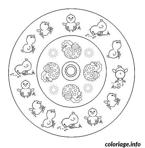 coloriage paques mandala paques dessin. Black Bedroom Furniture Sets. Home Design Ideas