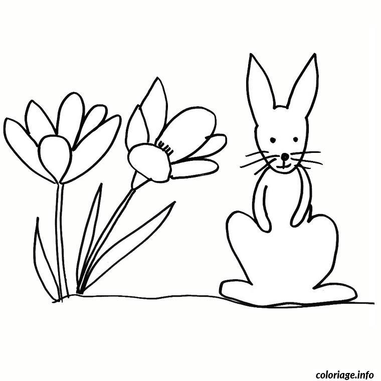 Coloriage paques lapin nain dessin - Coloriage a imprimer lapin ...