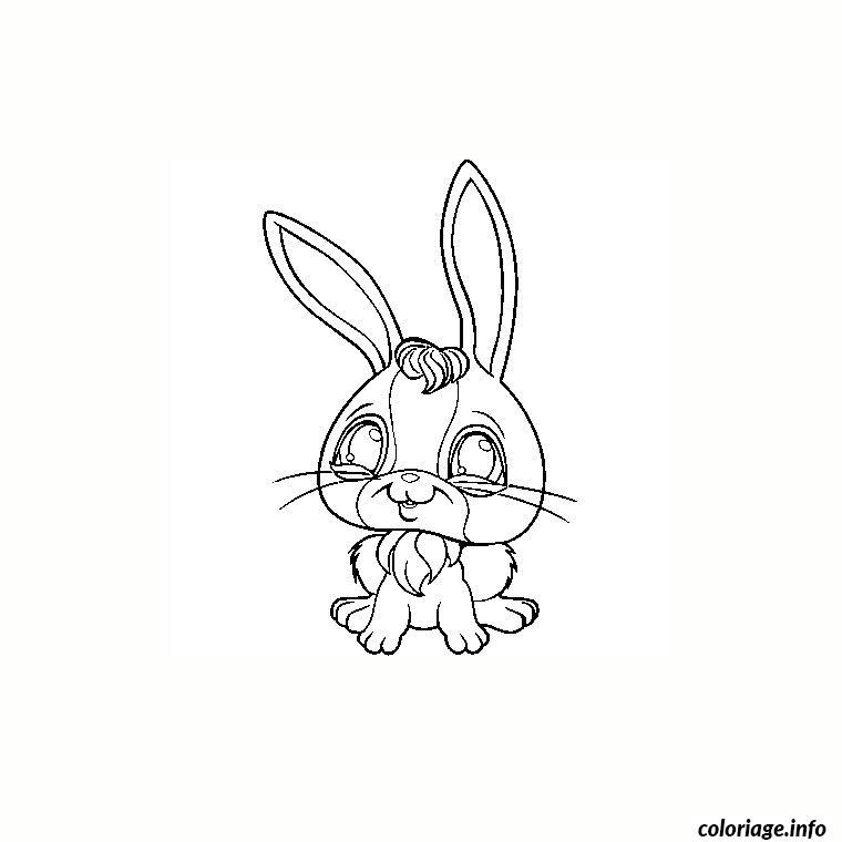 Coloriage paques lapin pet shop dessin - Petshop a colorier ...