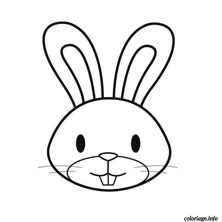 Coloriage paques tete de lapin maternelle dessin - Coloriage paques maternelle ...