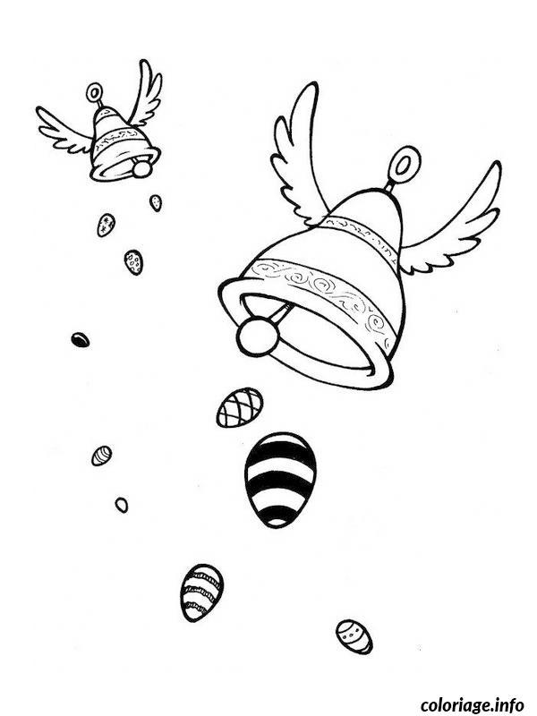 Coloriage dessin paques 93 dessin - Dessin cloche ...