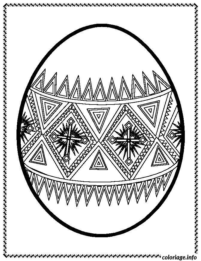Coloriage Oeuf De Paques Mandala Adulte dessin