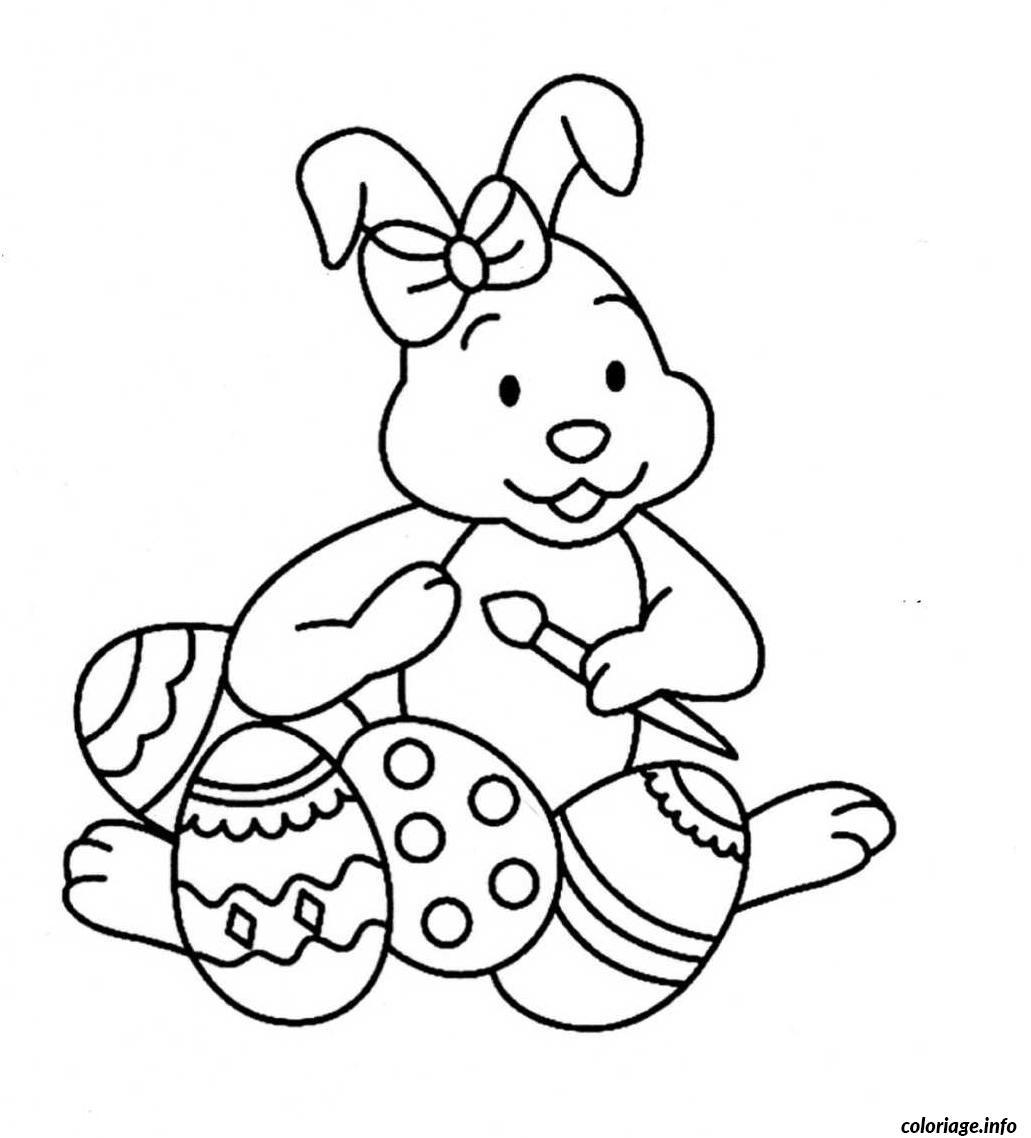 Coloriage lapin de paques oeufs maternelle dessin - Oeufs paques maternelle ...