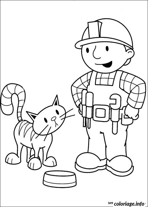 Dessin dessin bob le bricoleur 142 Coloriage Gratuit à Imprimer