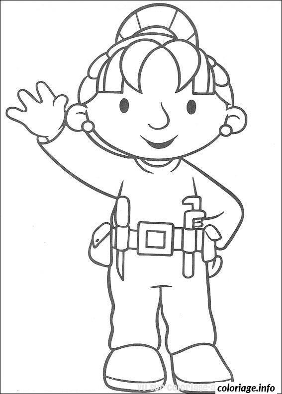 Dessin dessin bob le bricoleur 241 Coloriage Gratuit à Imprimer
