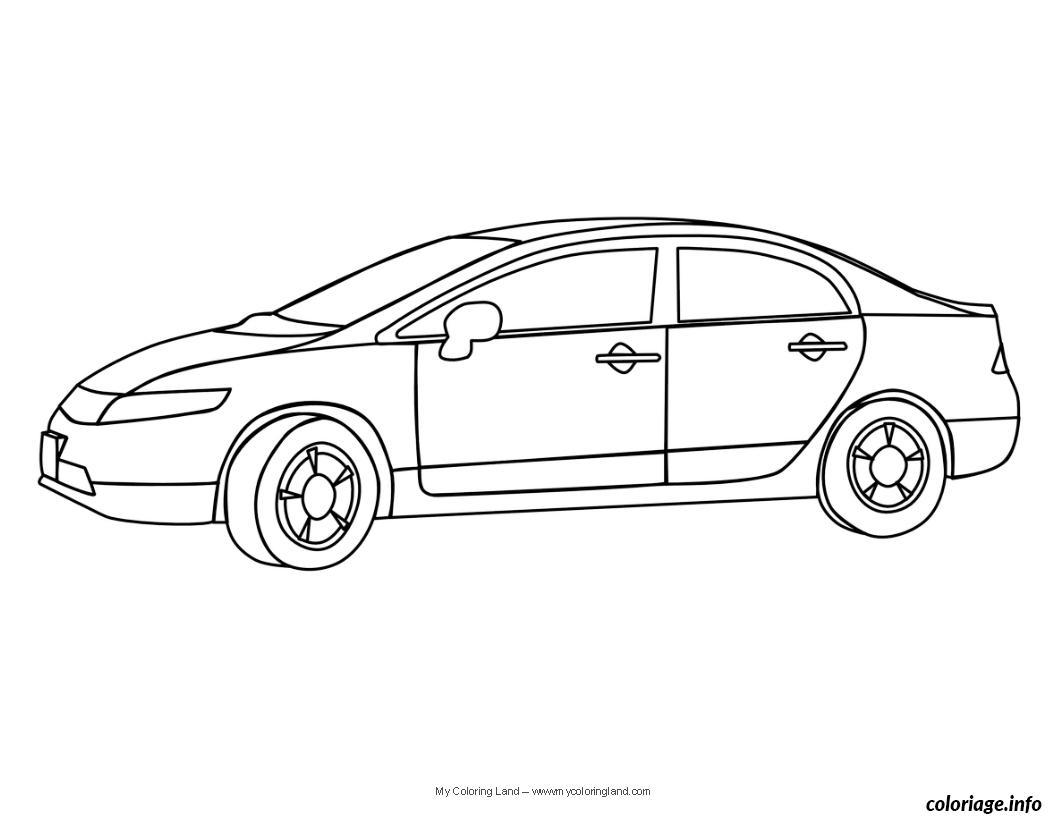 coloriage dessin voiture enfant 1 dessin