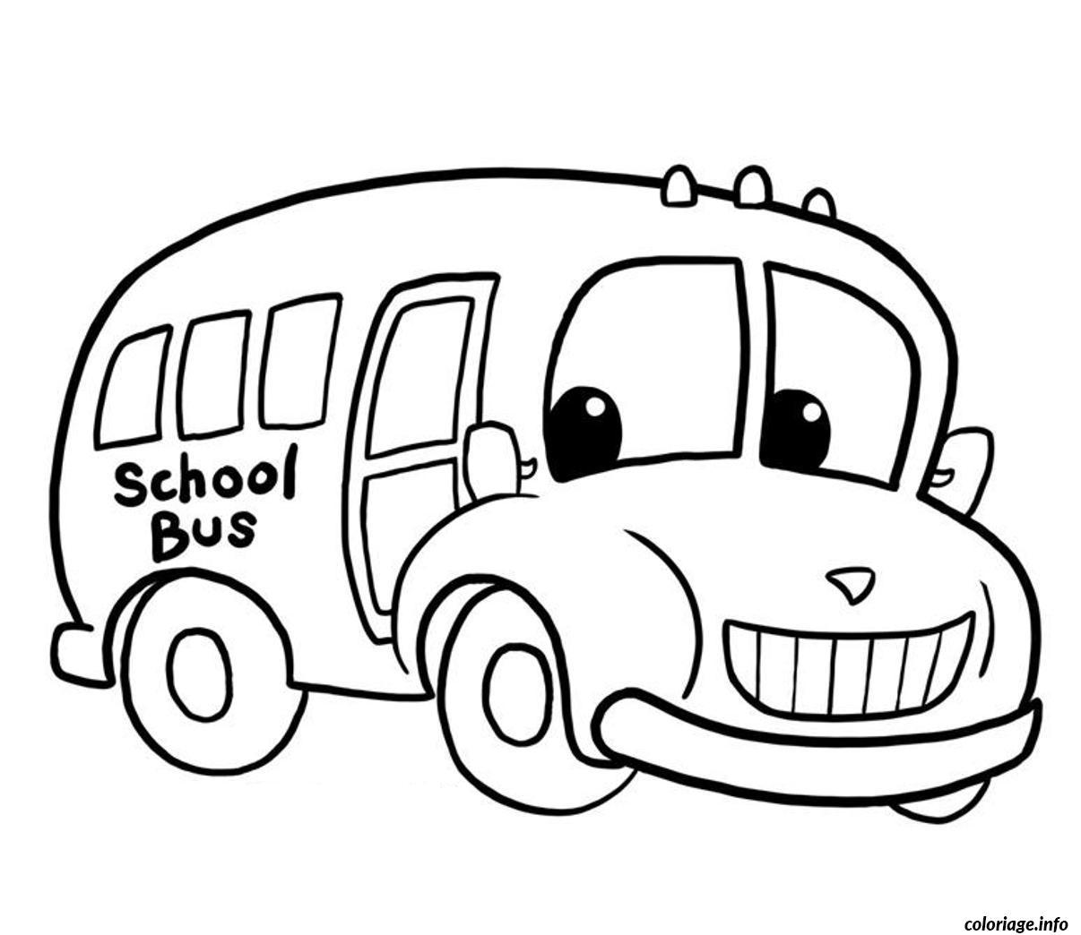Dessin dessin bus enfant 5 Coloriage Gratuit à Imprimer