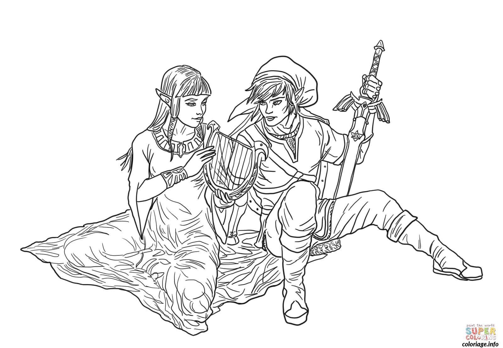 Coloriage Dessin Zelda 111