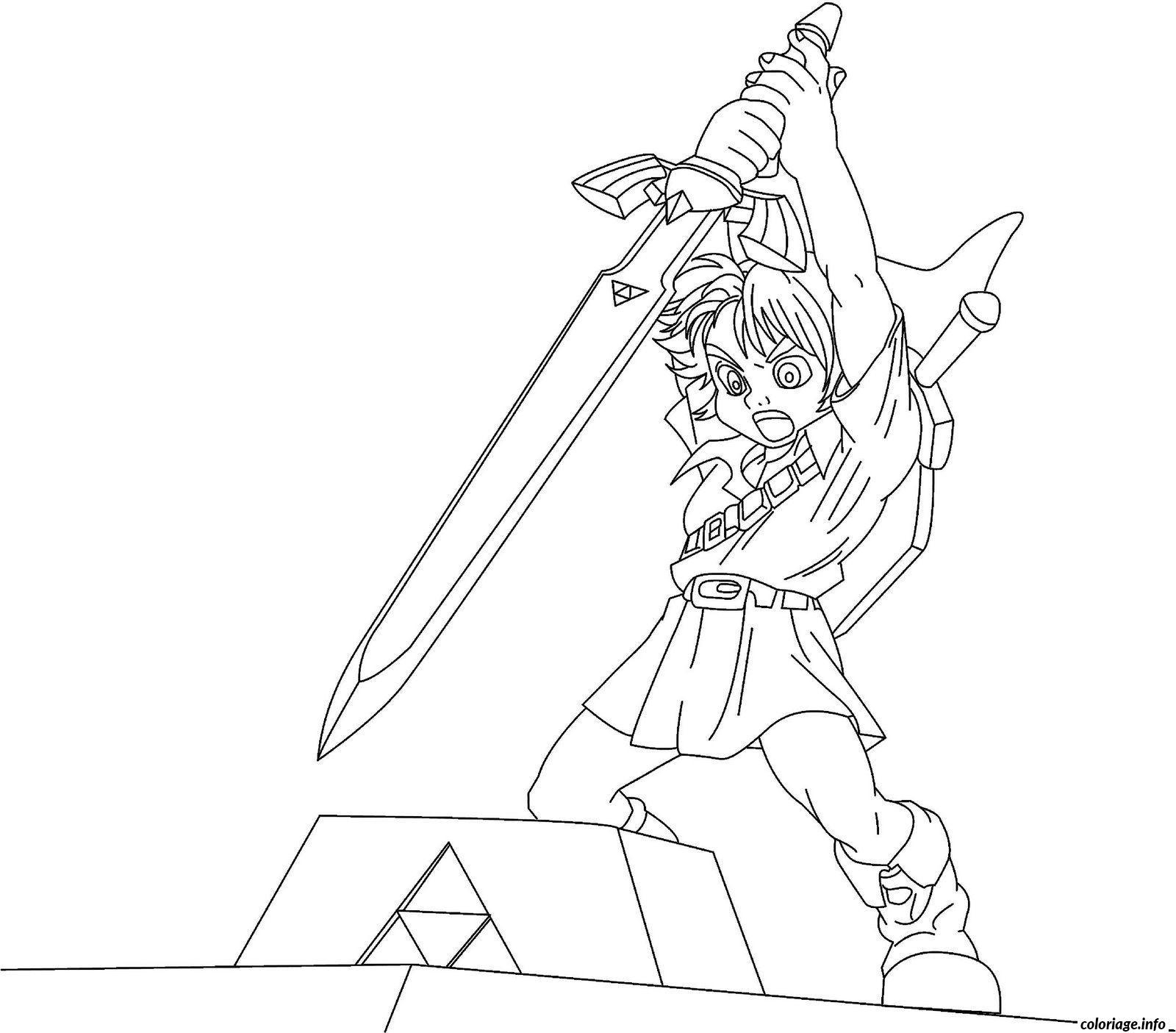 Coloriage Dessin Zelda 7 Jecolorie Com