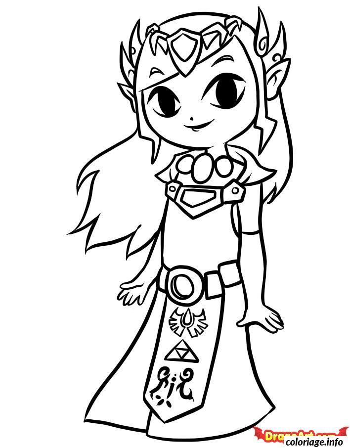 Coloriage Dessin Zelda 22 Jecolorie Com