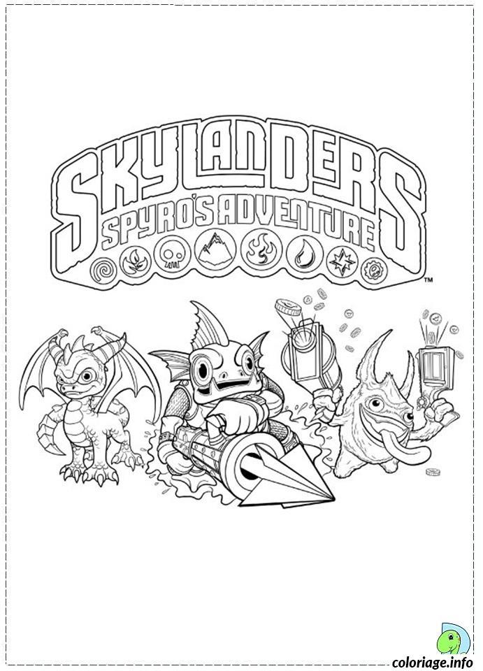 Coloriage dessin skylanders 63 dessin - Skylanders dessin ...