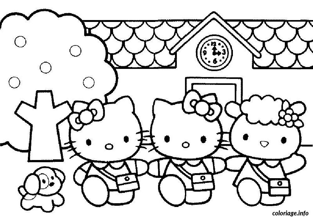 Dessin dessin hello kitty 284 Coloriage Gratuit à Imprimer